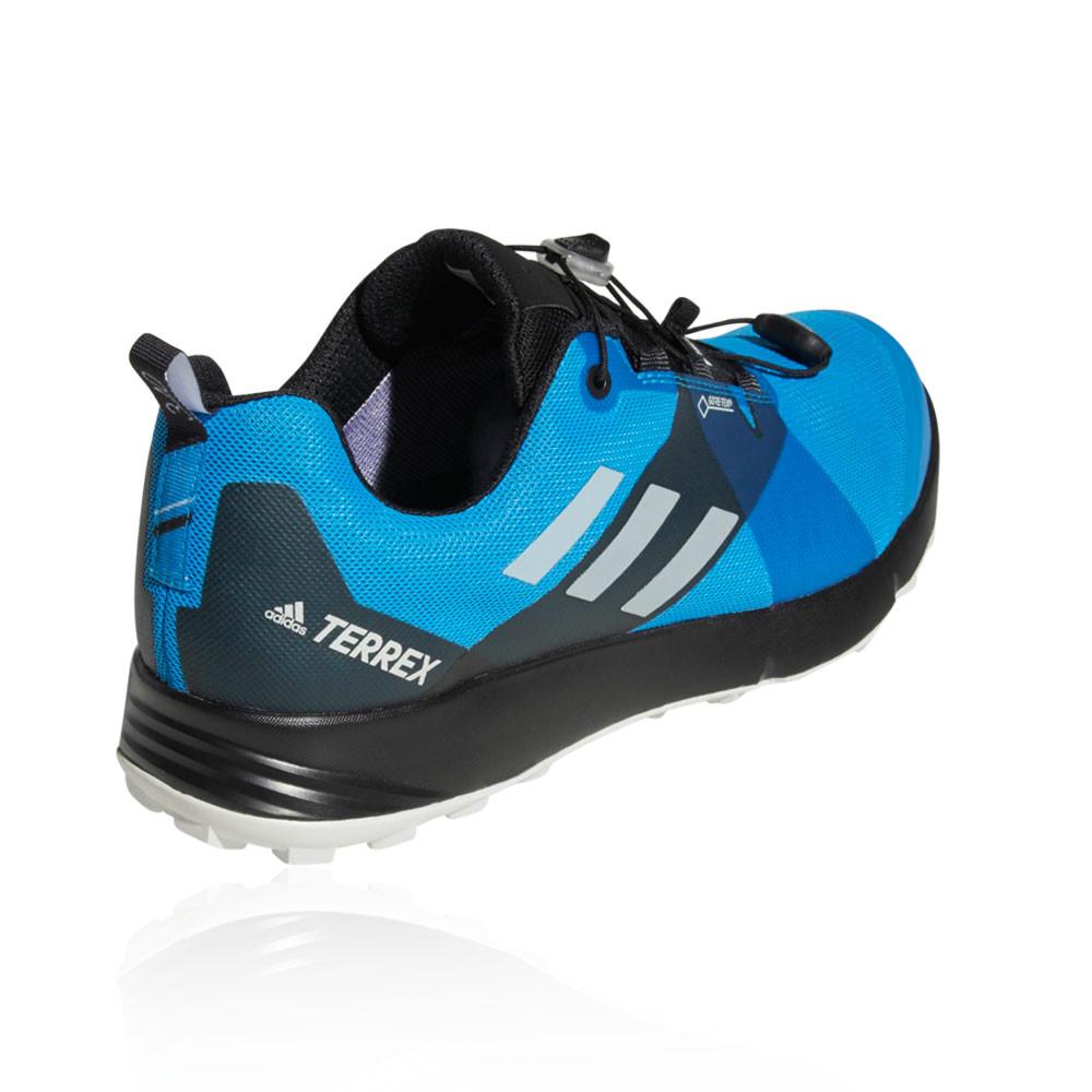 half off 975a2 7a955 Adidas Hombre Terrex Two Gore-tex Sendero Correr Zapatos Zapatillas Azul