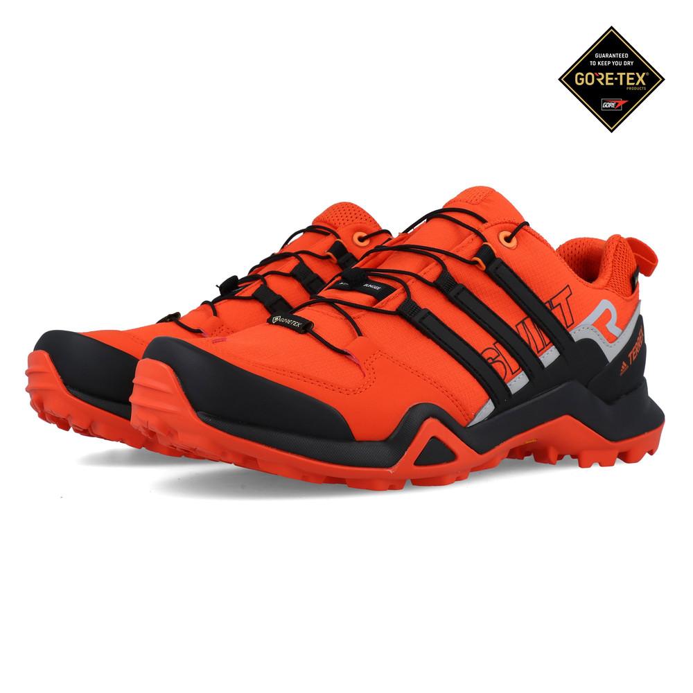 Détails sur Adidas Hommes Terrex Swift R2 Gore Tex Chaussure De Marche Randonnée Noir Orange