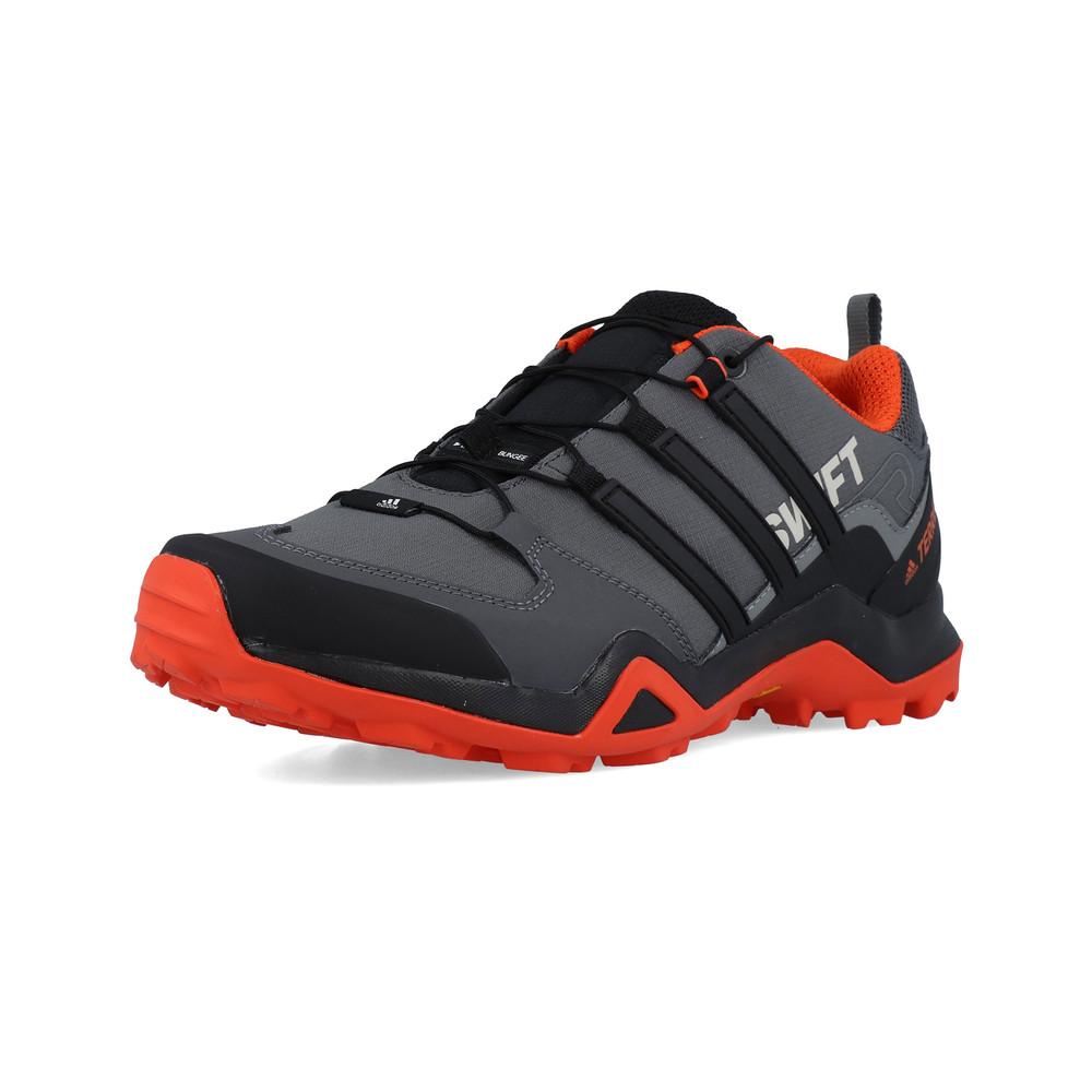 55630fe502 Adidas Hommes Terrex Swift R2 Chaussure De Marche Randonnée Noir Orange  Sport
