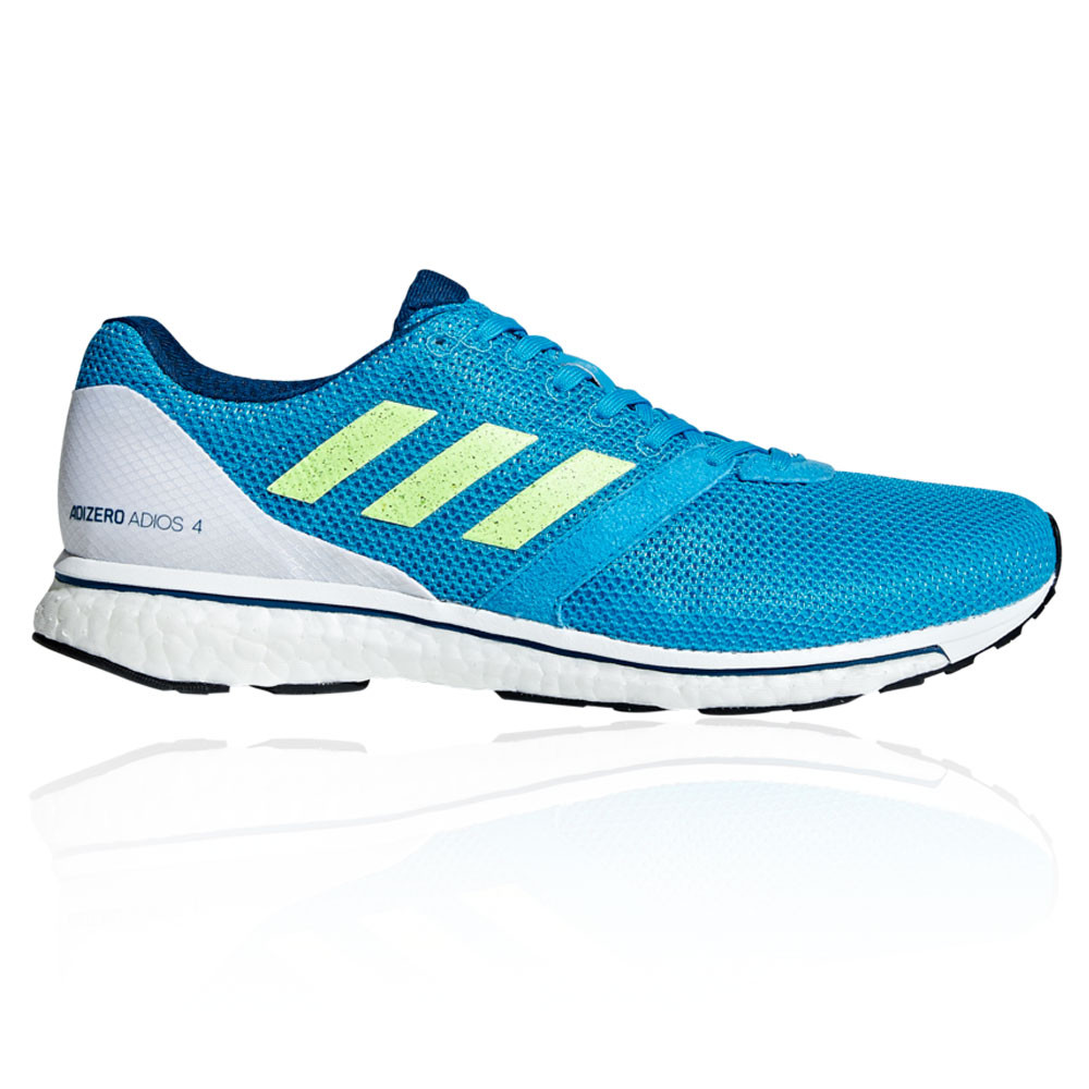 4e787ce07 Details about adidas Mens Adizero Adios 4 Running Shoes Trainers Sneakers Blue  White Sports