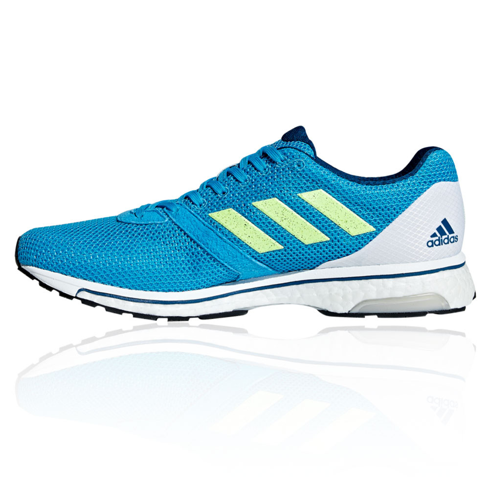 bc82993ff adidas Mens Adizero Adios 4 Running Shoes Trainers Sneakers Blue White  Sports