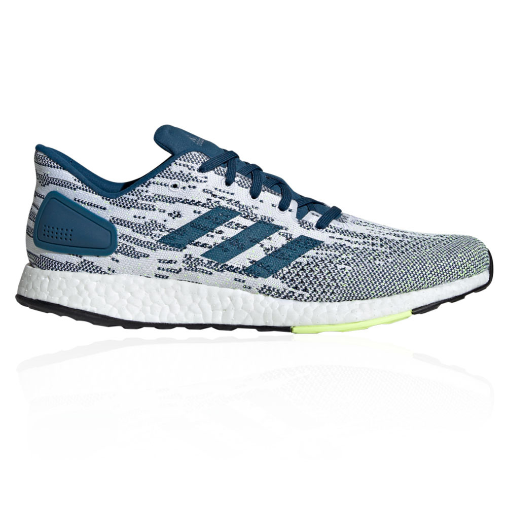 37b63e622ebde Details about adidas Mens PureBOOST DPR Running Shoes Trainers Sneakers  Blue White Sports