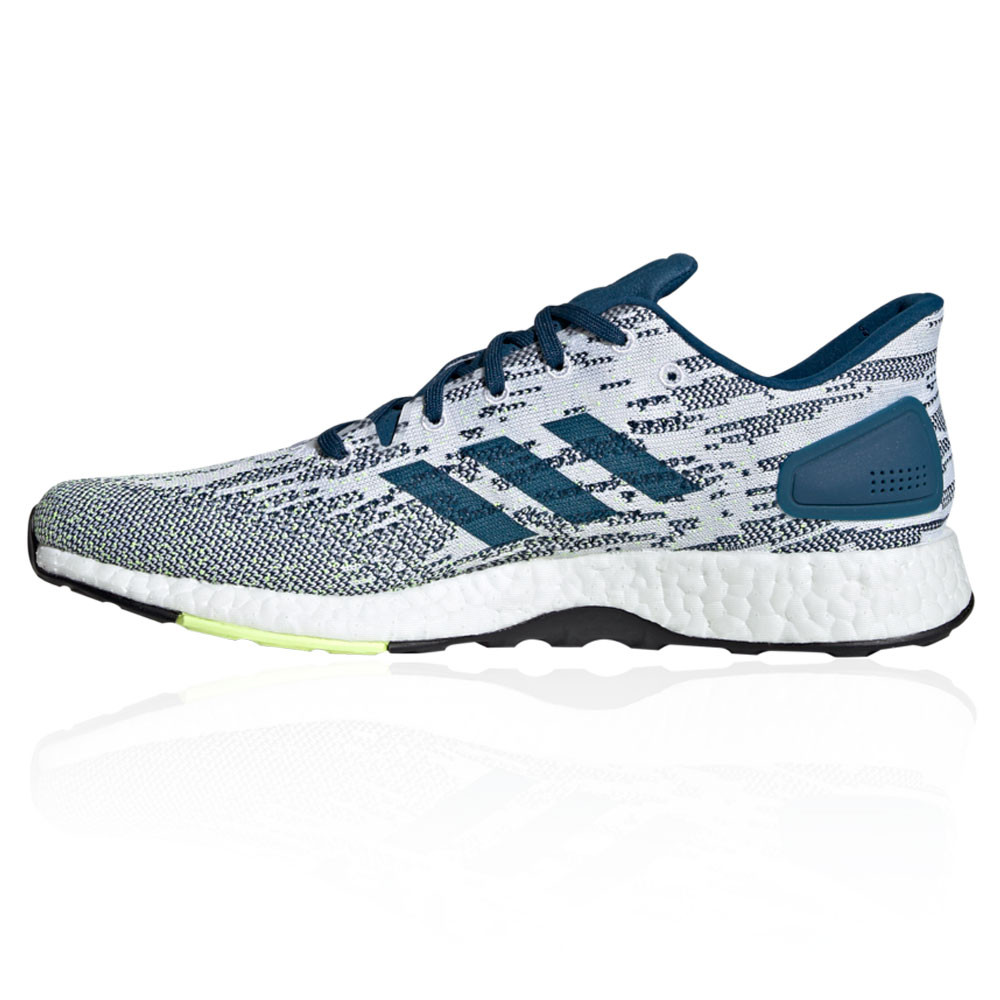 0687676010752 adidas Mens PureBOOST DPR Running Shoes Trainers Sneakers Blue White Sports