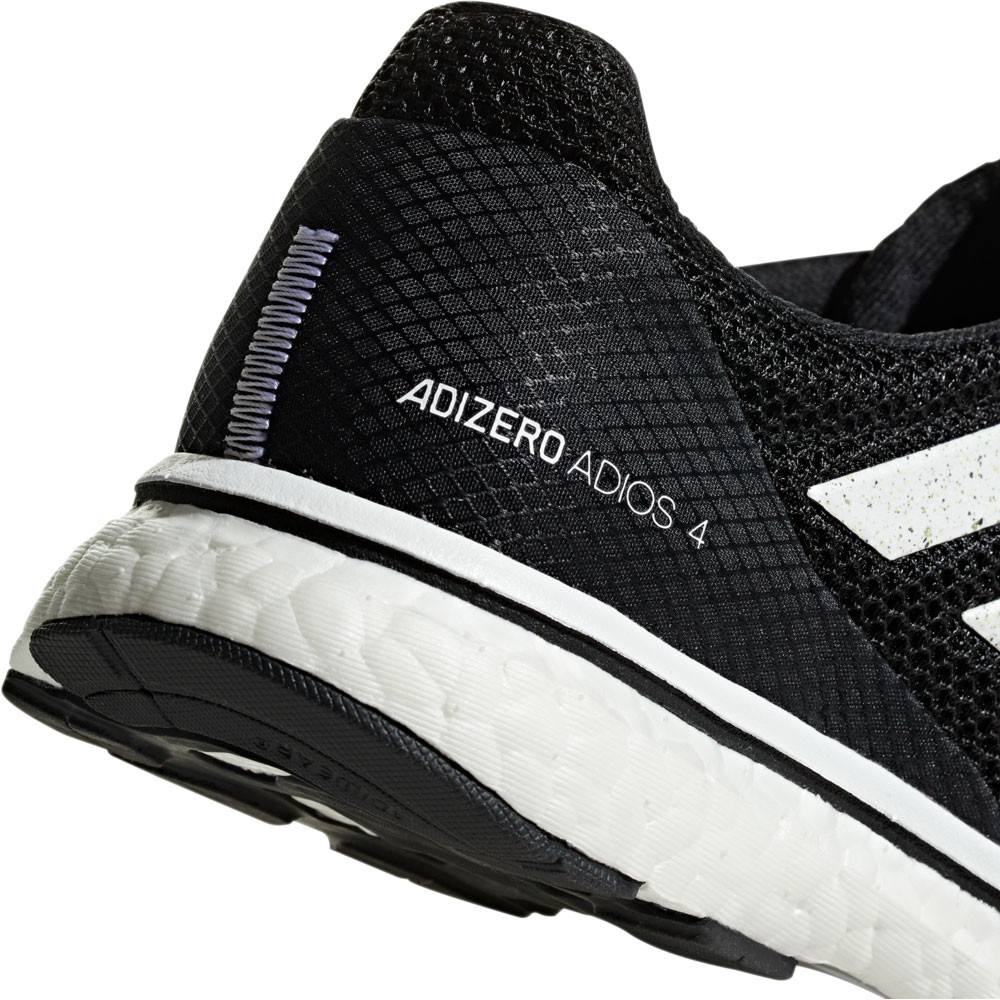 09875a225692 adidas Womens Adizero Adios 4 Running Shoes Trainers Sneakers Black Sports