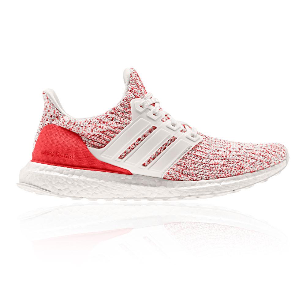 Détails sur Adidas Femmes Ultraboost Chaussures De Course À Pied Baskets Sport Rouge Blanc
