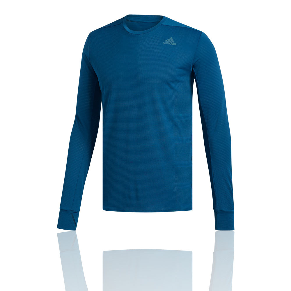 ddc5de6a48 Details about adidas Mens Supernova Long Sleeve Top Navy Blue Sports  Running Breathable