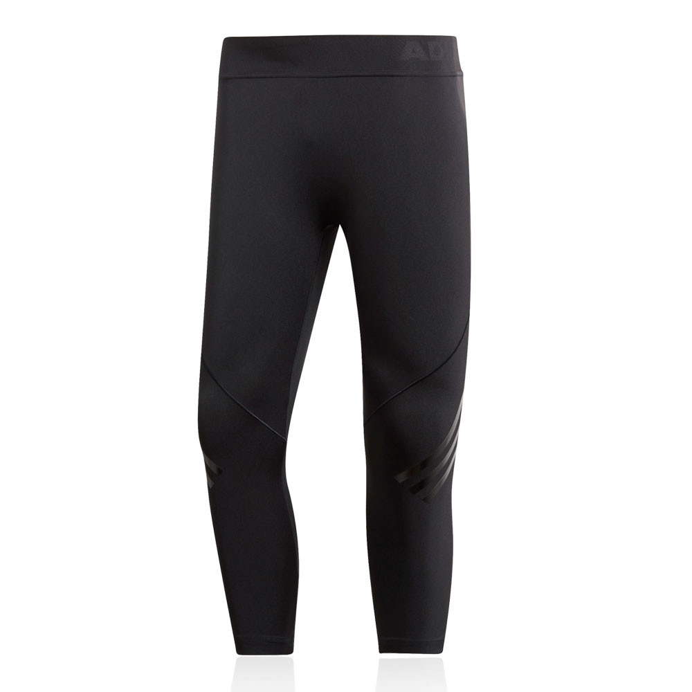 5fa82ce4a727a adidas Mens AlphaSkin Tech 3/4 Tights Bottoms Pants Trousers Black Sports