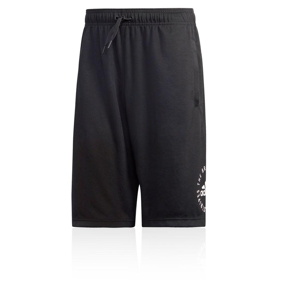 Dettagli su adidas Uomo Sport ID Pantaloncini Shorts Nero Basket Pallacanestro Sport Nero