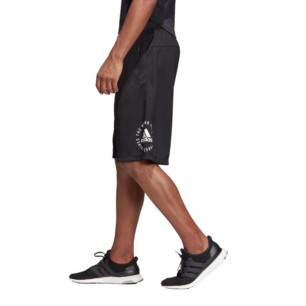 Détails sur Adidas Hommes Sport Id Short De Sport Bermuda De Jogging Running Gym Noir