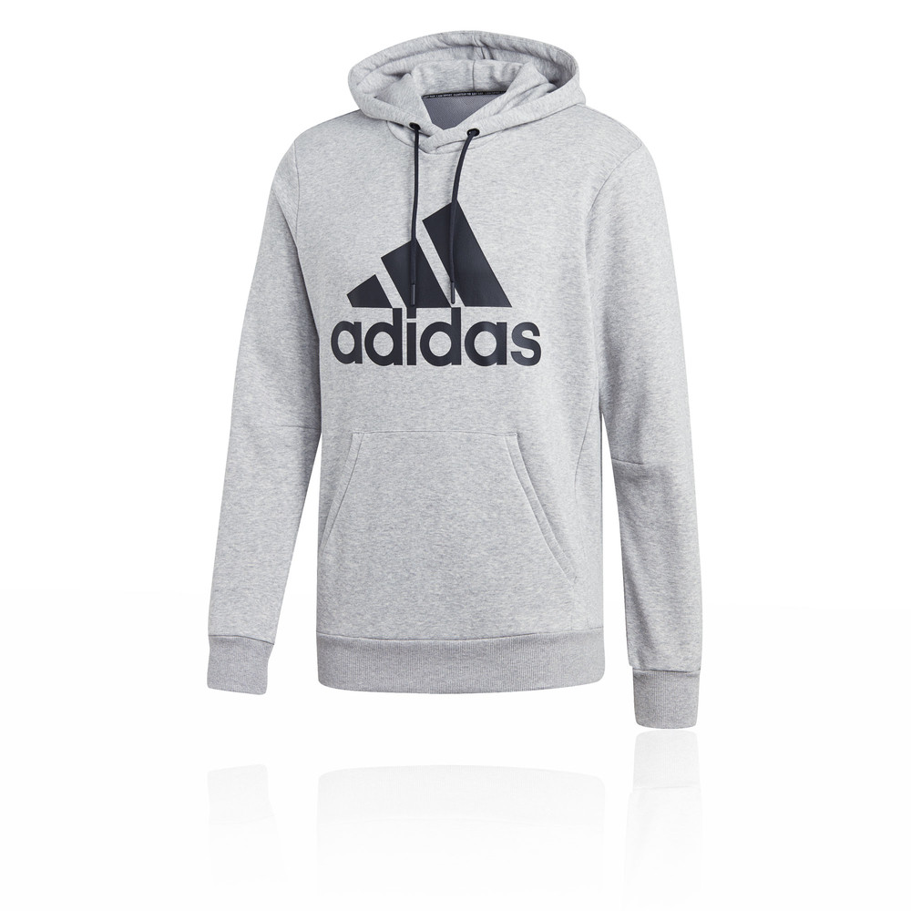 68ab52035f5a Details about adidas Mens Must Haves Badge of Sport Pullover Hoodie Grey  Sports Gym Outdoors