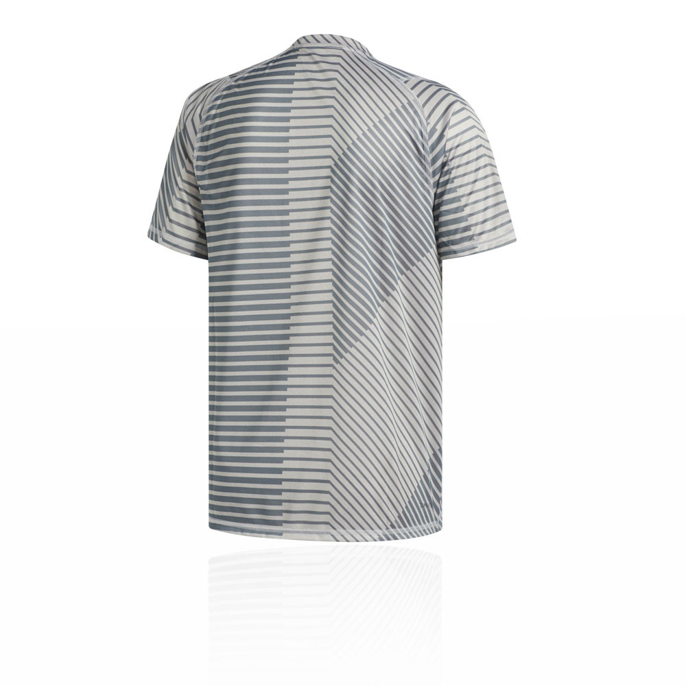 best service d62eb 66610 Details about adidas Mens FreeLift Sport Graphic T Shirt Tee Top Grey  Sports Gym Breathable