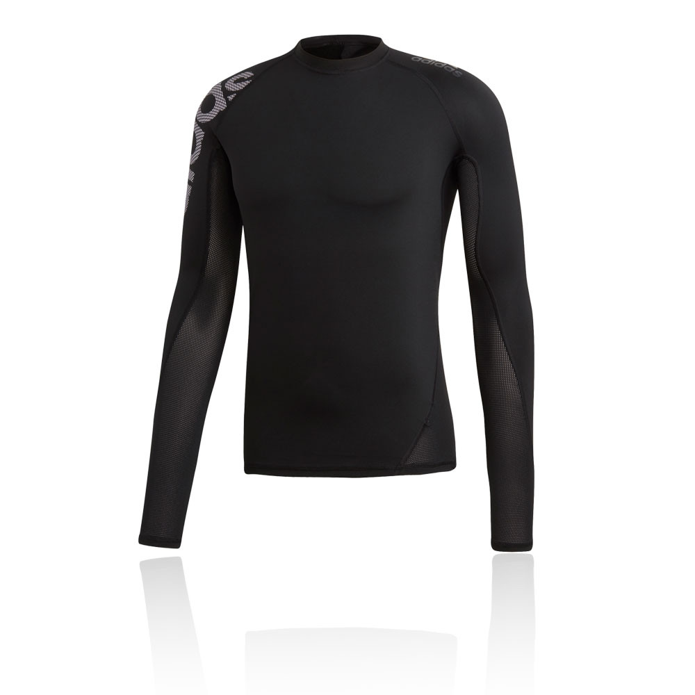 08a5b96ab7 Details about adidas Mens AlphaSkin Sport Long Sleeve Running Top Black  Sports Breathable