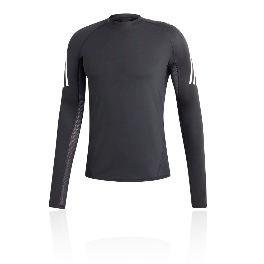 90f98a9fa adidas Mens AlphaSkin Long Sleeve Running Top Black Sports Breathable