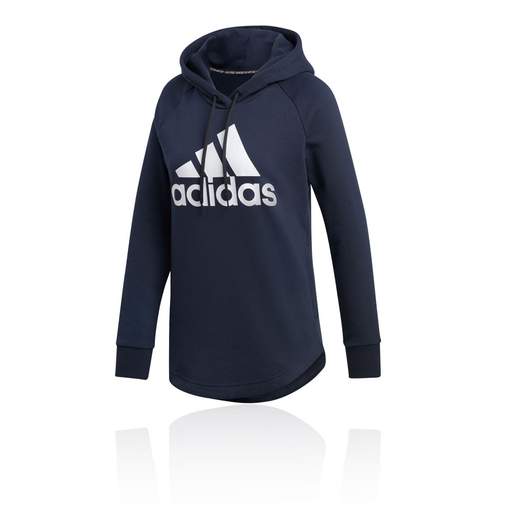 recognized brands hot new products coupon code Détails sur Adidas Femme Must Haves Badge Of Sport Overhead Sweat À Capuche  Sweater Top Bleu