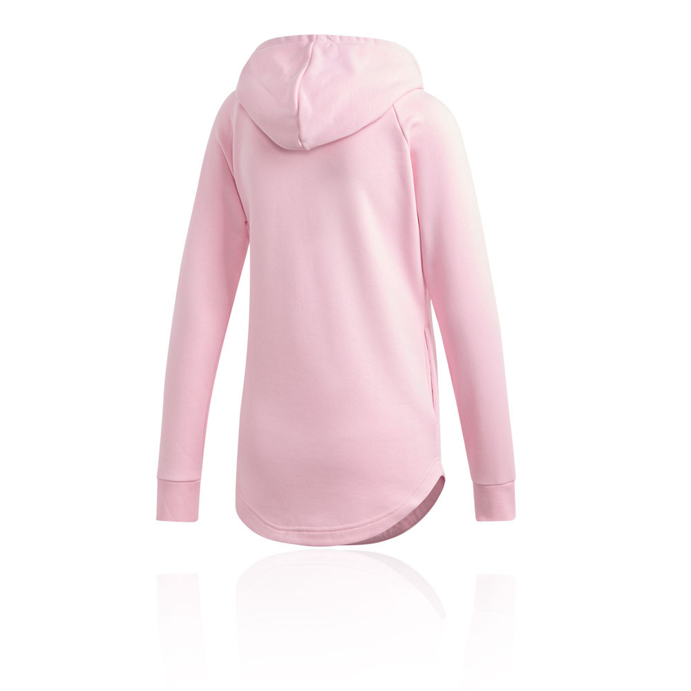677c5ada5070 Details about adidas Womens Must Haves Badge of Sport Overhead Hoodie Pink  Sports Gym Outdoors