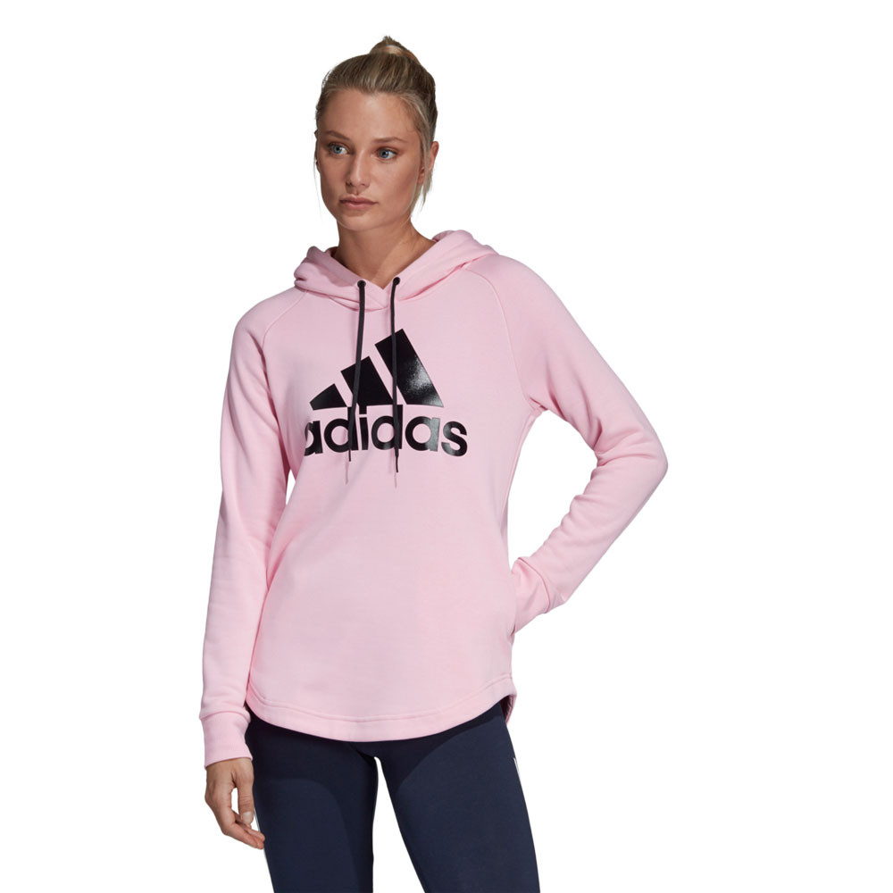 adidas Donna Must Haves Badge of Sport Felpa Con Cappuccio Rosa Outdoor c60d6804e974