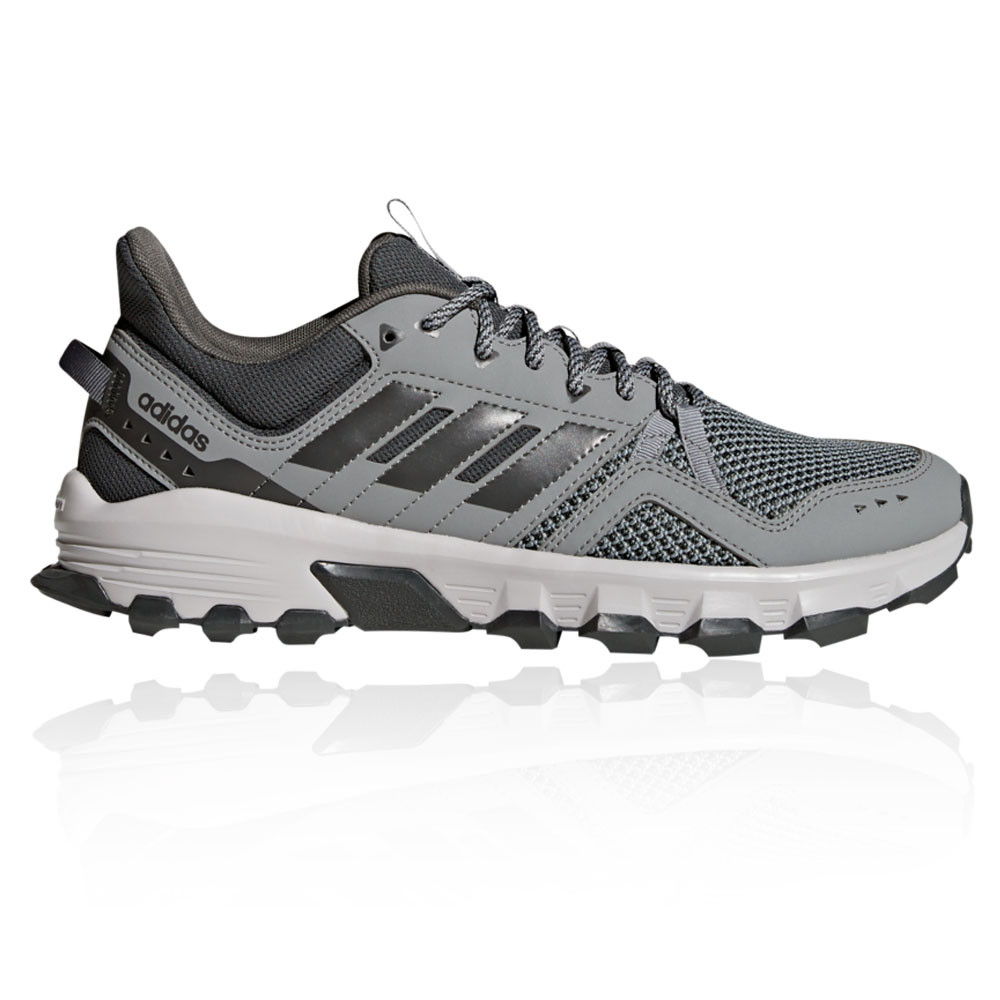 cd42e245b768 Details about adidas Mens Rockadia Trail Running Shoes Trainers Sneakers  Grey Sports
