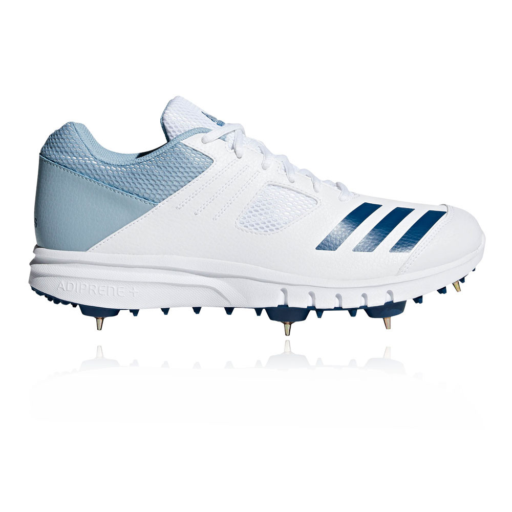 d8aee4b47f308 Details about adidas Mens Howzat Cricket Spike Shoes White Sports  Breathable Lightweight