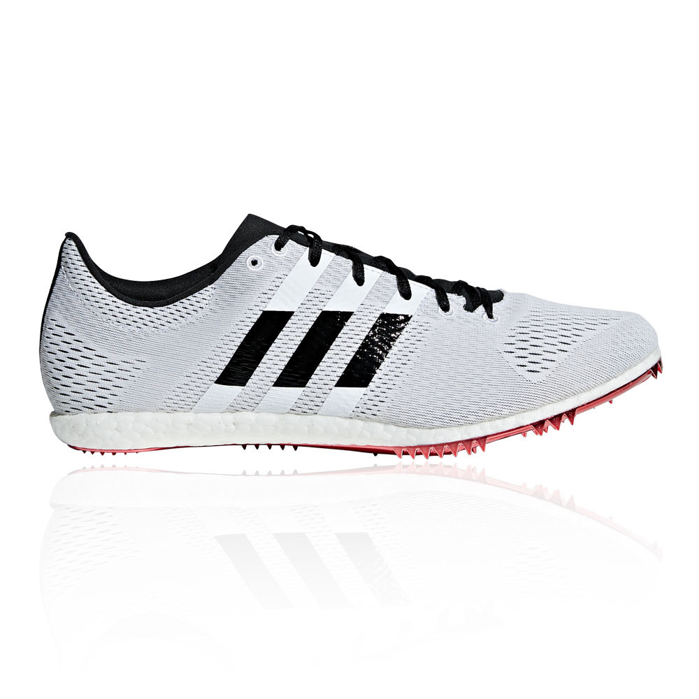 891c4e7e9ac834 Details about adidas Unisex Adizero Avanti Running Spikes Traction Black  White Sports