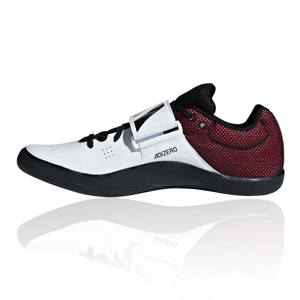 Details zu adidas Unisex Adizero Discus Hammer Leichtathletik Schuhe Schwarz Rot Weiß Sport