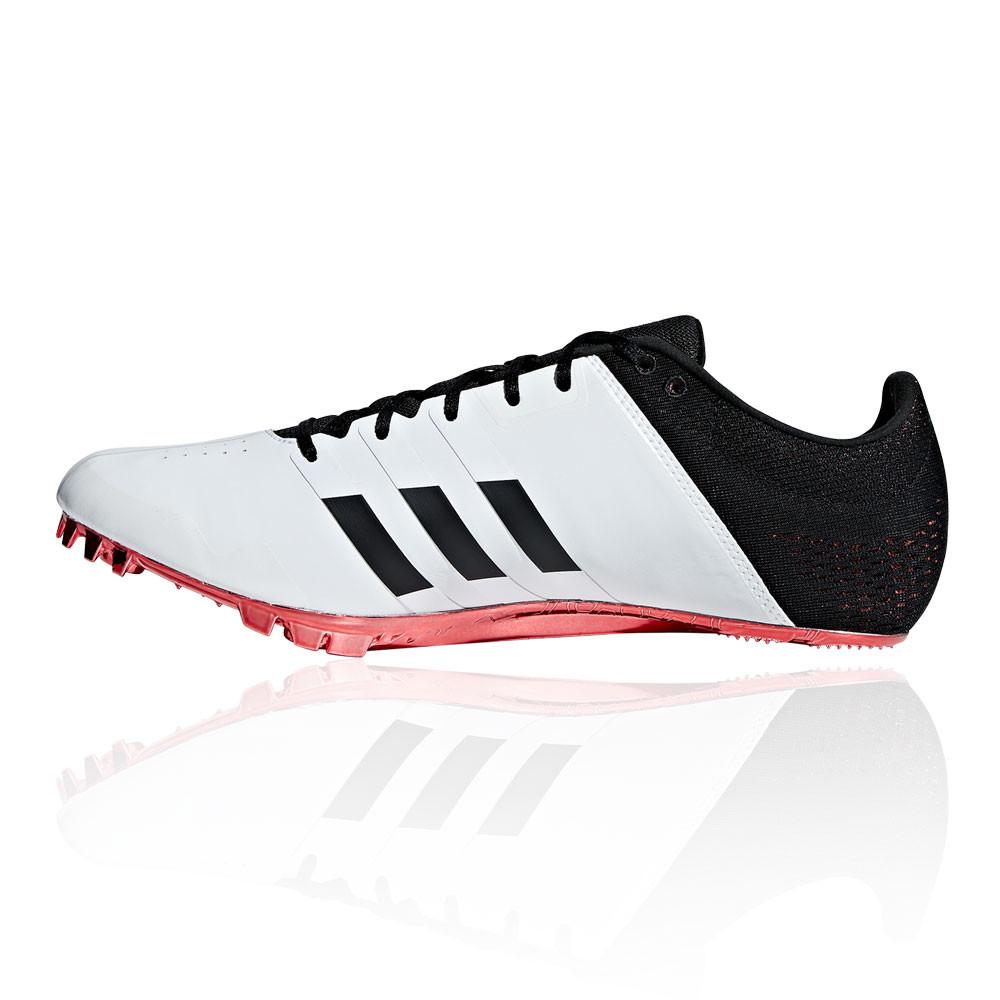 Dettagli su adidas Uomo Adizero Finesse Scarpe Chiodate Corsa Ginnastica Nero Rosso Bianco