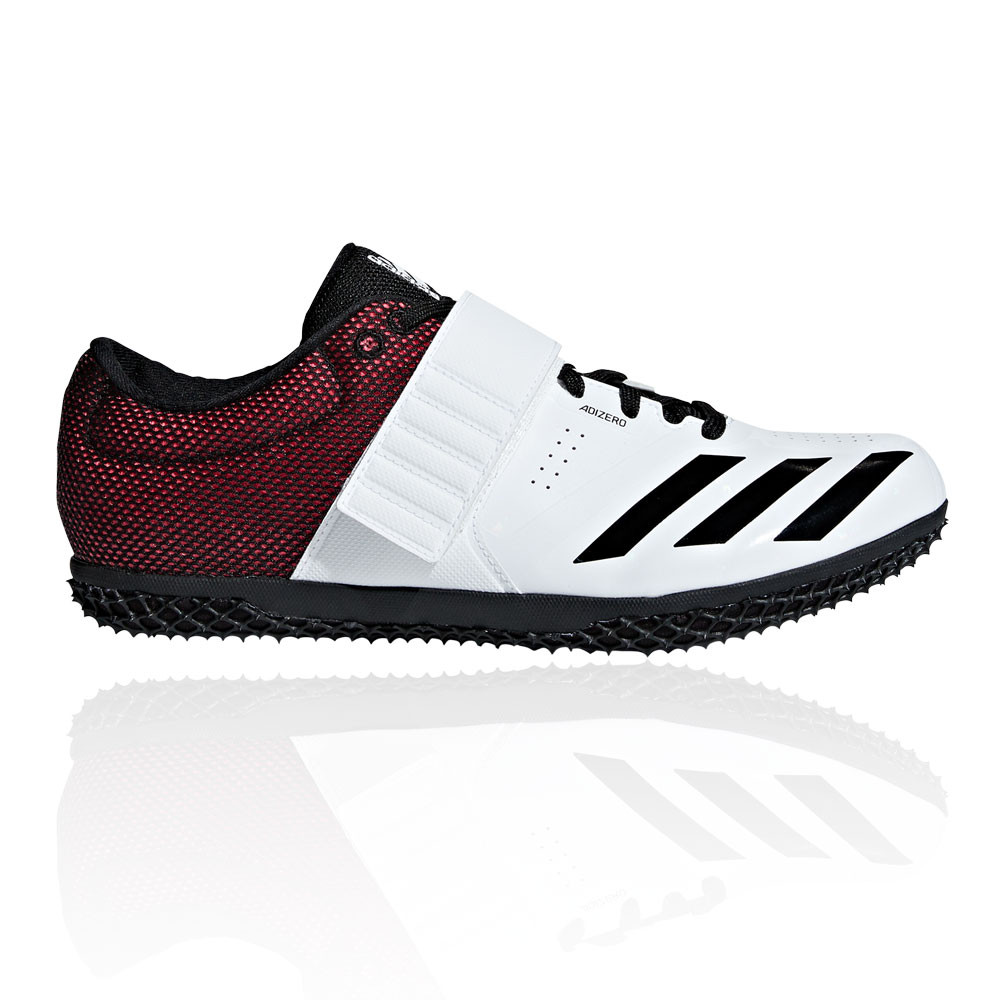 07b594655f3e Details about adidas Mens Adizero High Jump Shoe Black Red White Sports  Breathable