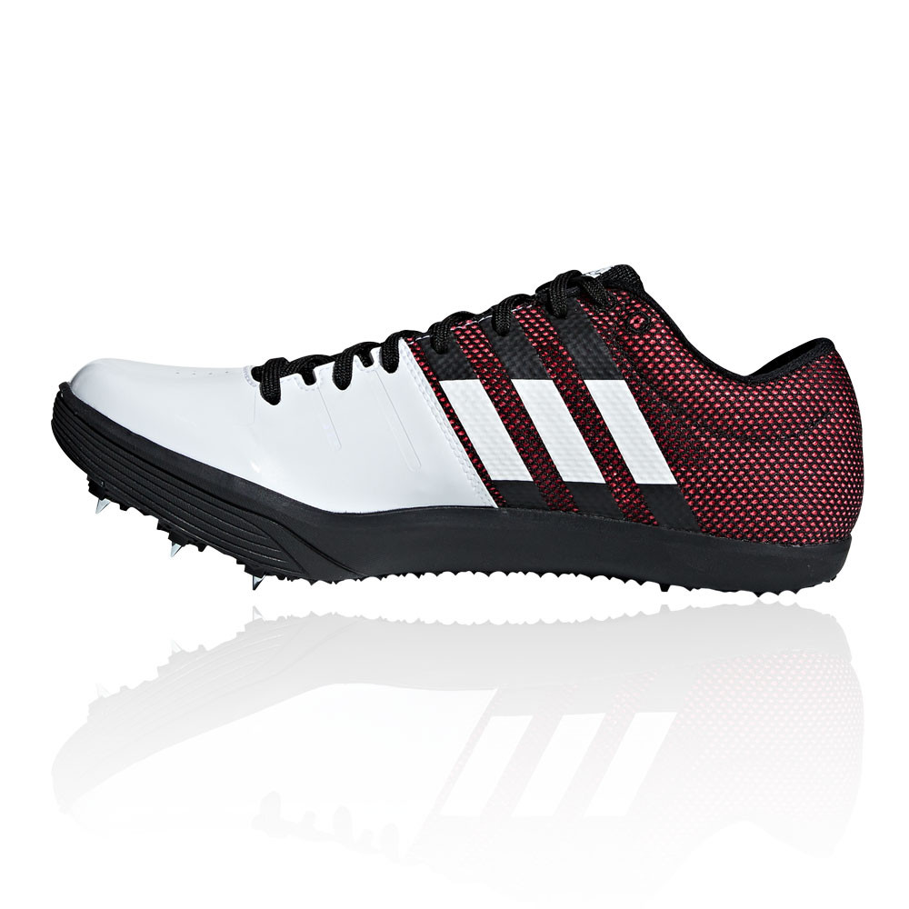 Dettagli su adidas Uomo Adizero Scarpe Da Ginnastica Salto In Lungo Nero Rosso Bianco Sport