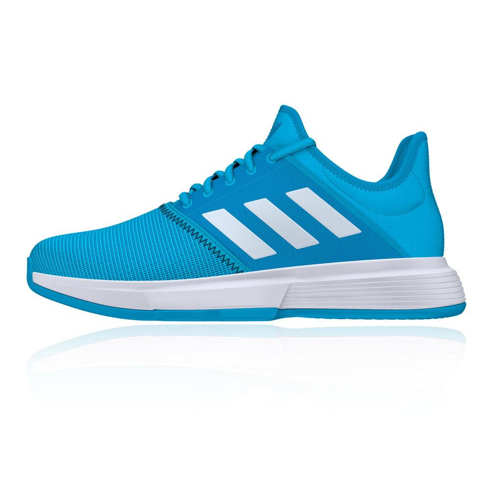 Court Respirant Game Sport Baskets Sur Bleu De Chaussures Adidas Tennis Détails Hommes vY6y7gbf