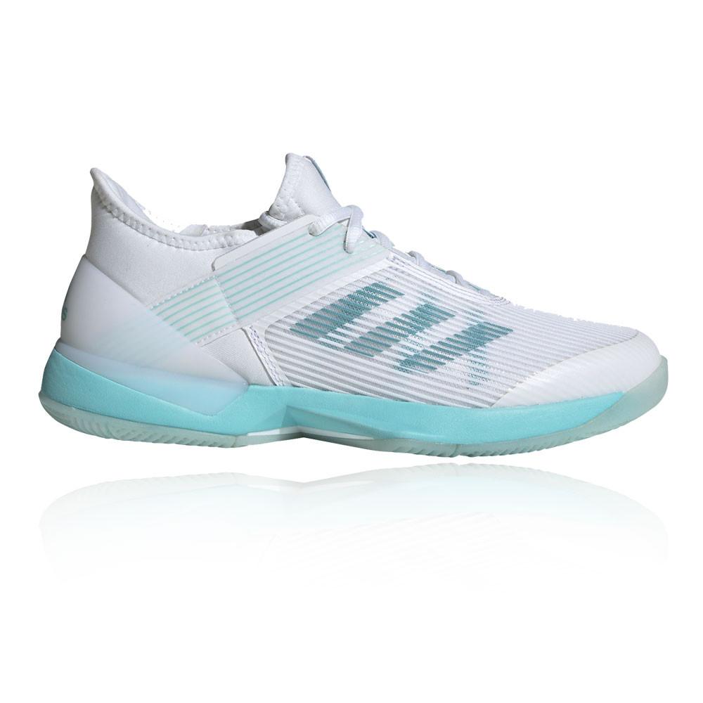 Dettagli su adidas Donna Adizero Ubersonic 3 x Parley Scarpe Tennis Ginnastica Bianco Sport