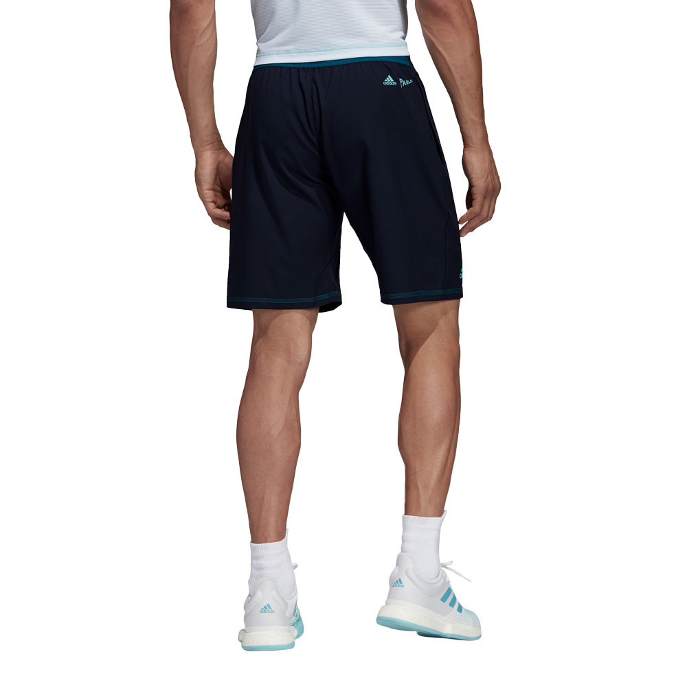 sur les images de pieds de très convoité gamme de magasiner pour l'original Détails sur Adidas Hommes Parley Tennis Short De Sport Bermuda De Tennis  Jogging Squash Bleu