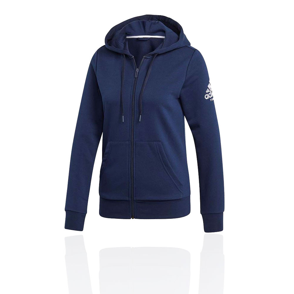 c2d37376f Details about adidas Womens Club Hoodie Navy Blue Sports Squash Tennis Full  Zip Hooded