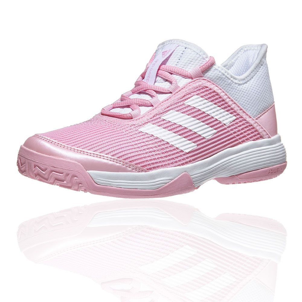 c94dd1d7cde Details about adidas Girls adizero Club K Pink Junior Tennis Shoes White  Sports Breathable