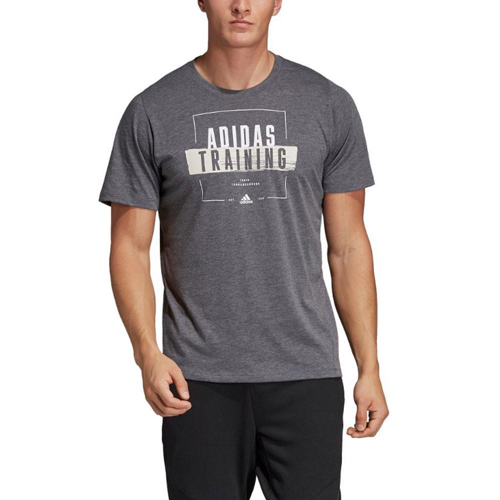da206d984d adidas Hombre Freelift 360 Deporte Camiseta T-Shirt Gris Gimnasio  Transpirable