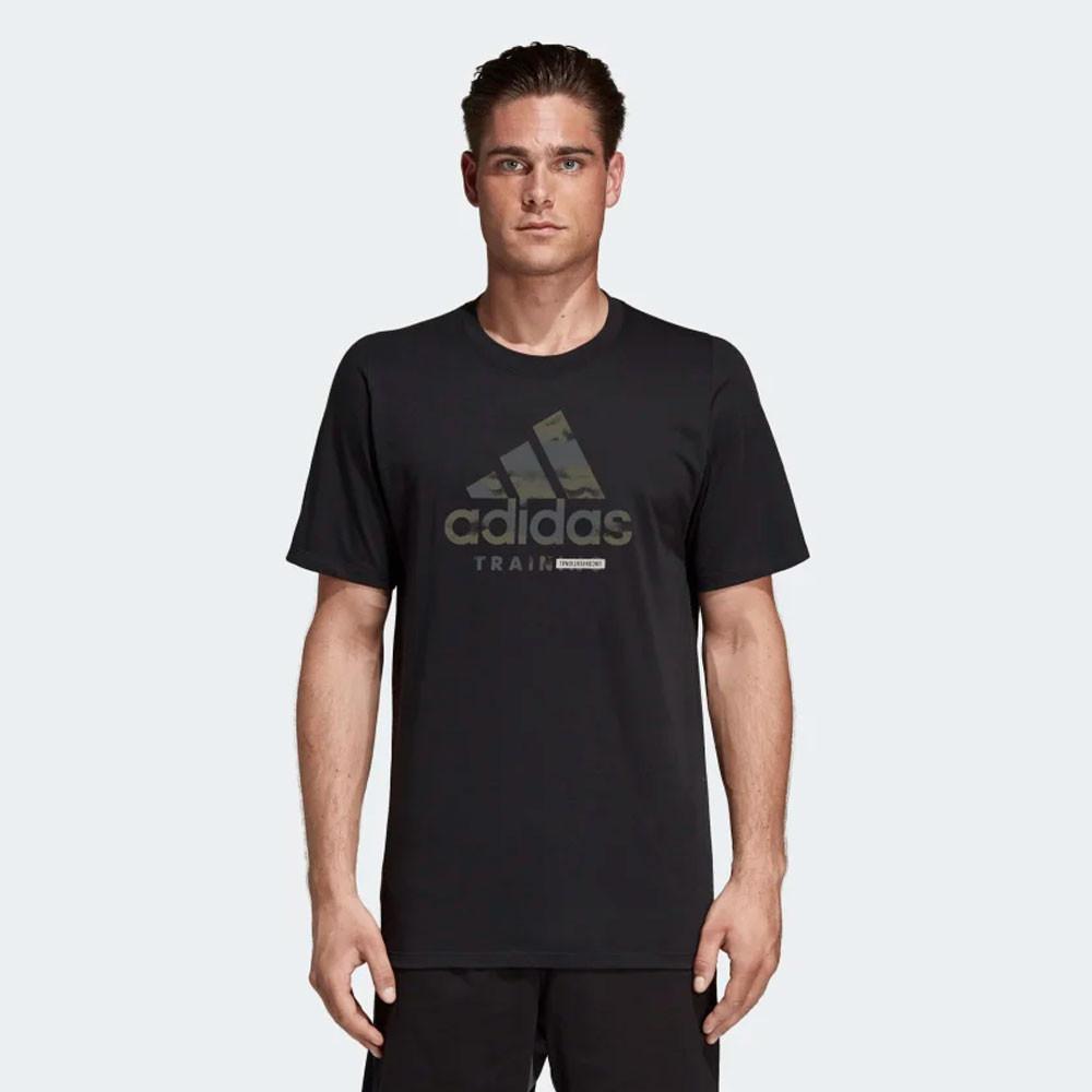 Détails sur Adidas Hommes Freelift 360 Graphique Logo T Shirt Tee Top Noir Sport Gym