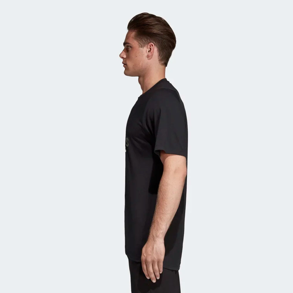 Details about adidas Mens FreeLift 360 Graphic Logo T Shirt Tee Top Black Sports Gym