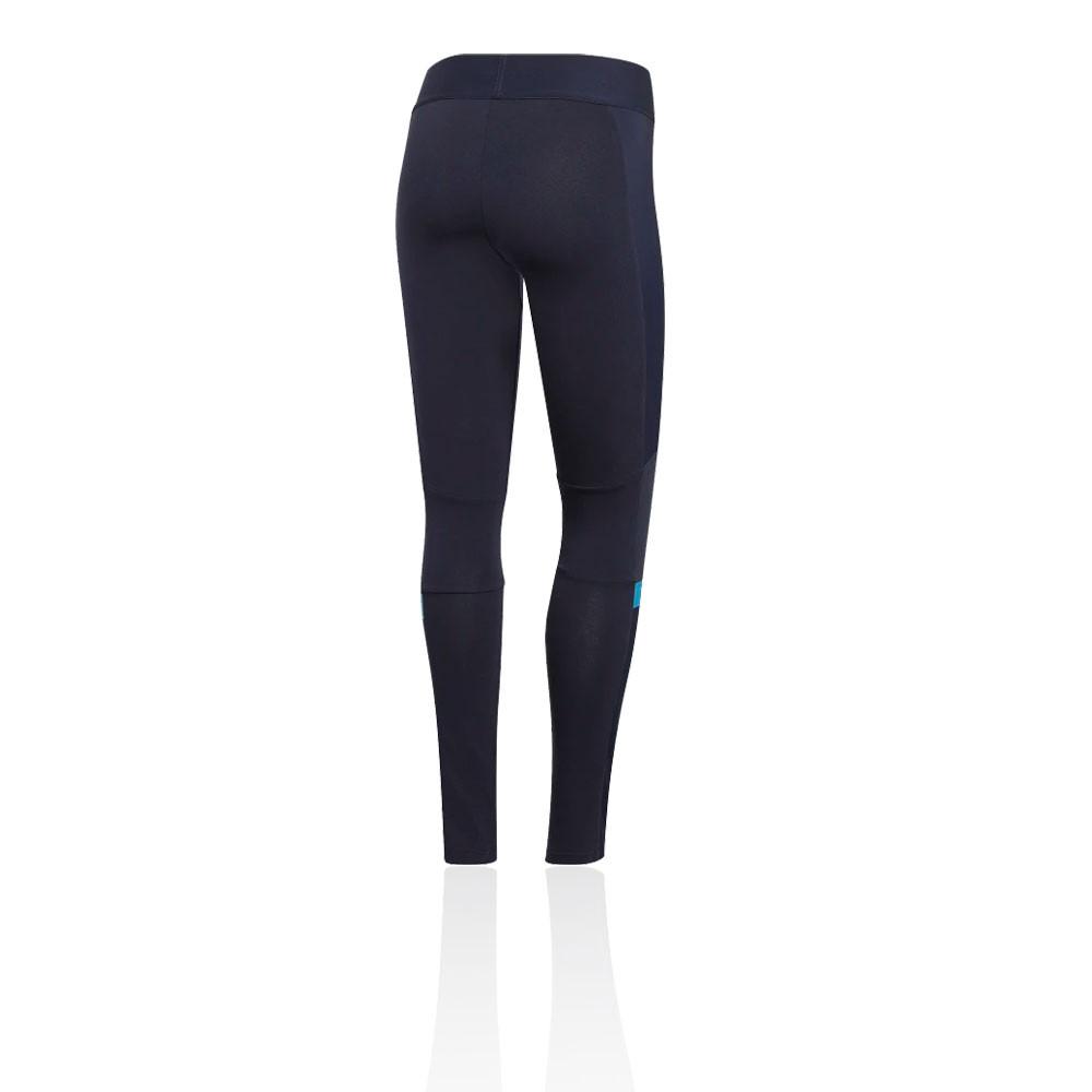 Détails sur Adidas Femmes Id Wnd Leggings Fitness Running Jogging Bas De Survêtement Bleu
