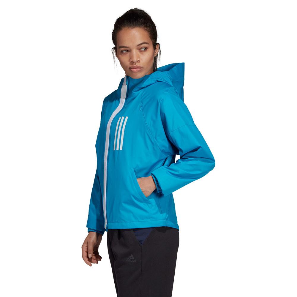 Détails sur adidas Femmes Wnd Polaire Laine Toison En Laine Veste De Sport Blouson Top Bleu