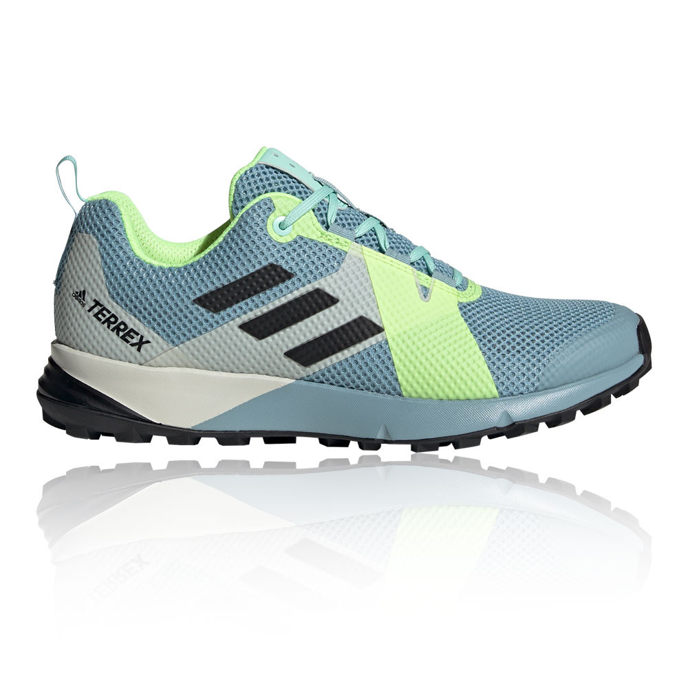 d741d5356e Details about adidas Womens Terrex Two Trail Running Shoes Trainers  Sneakers Blue Sports