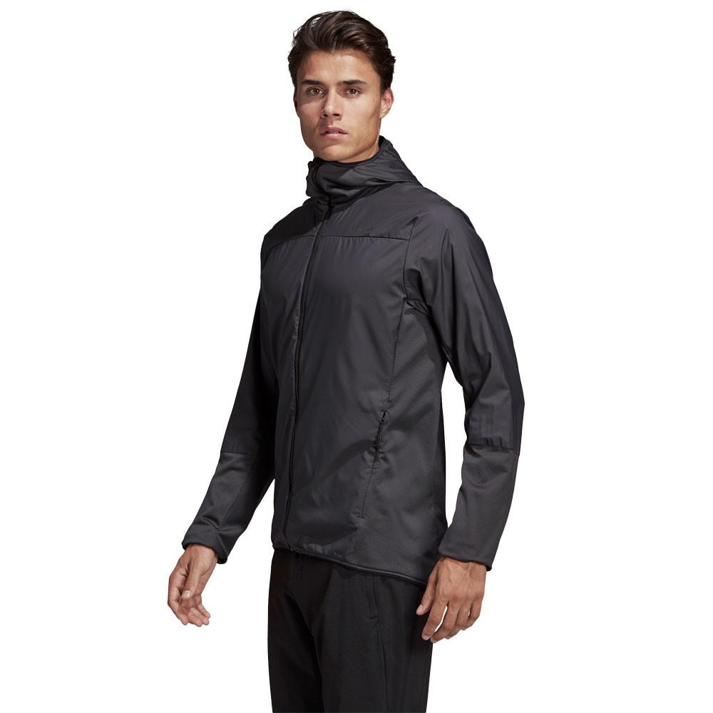 Détails sur adidas Homme Terrex Skyclimb Polaire Laine Toison Veste Sport Blouson Top Noir