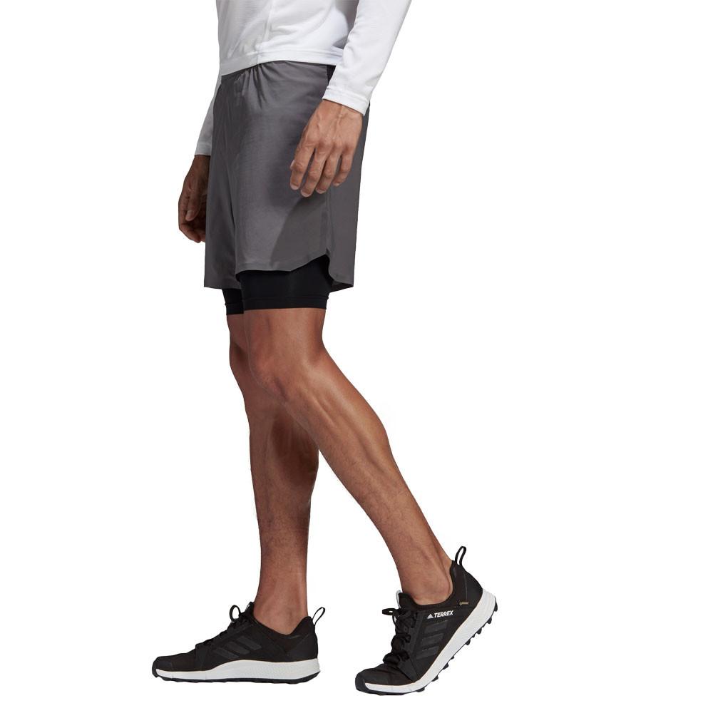 Details zu adidas Herren Terrex Agravic 2in1 Shorts Kurze Hose Trekking Outdoorhose Grau