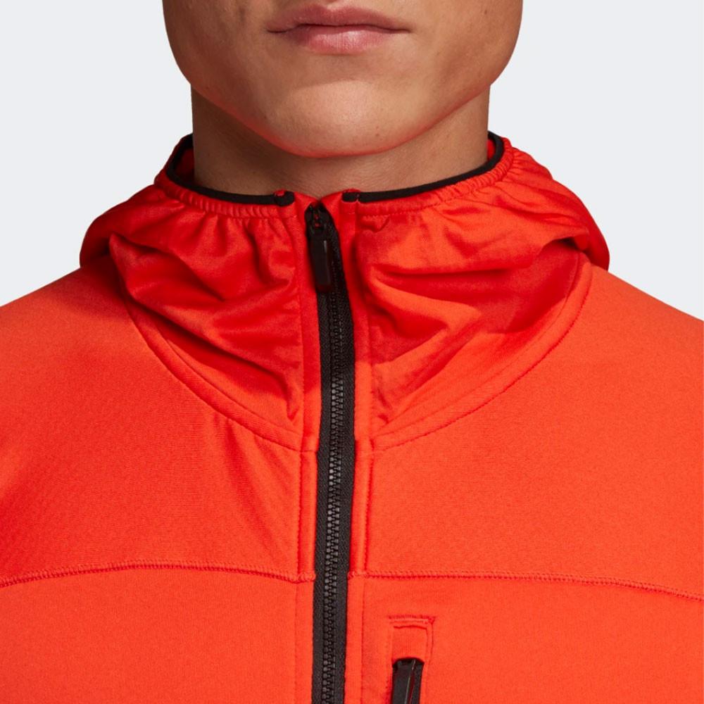 Détails sur adidas Hommes Trace Rocker Veste Polaire À Capuche Sport Top Orange Gym Jogging