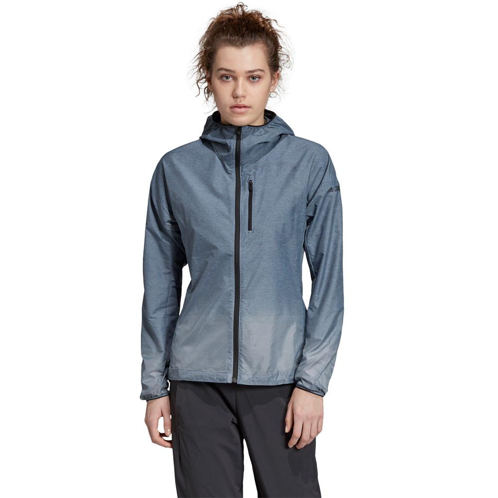 Détails sur adidas Femmes Terrex Agravic Windweave Veste De Sport Blouson Top Bleu Extérieur