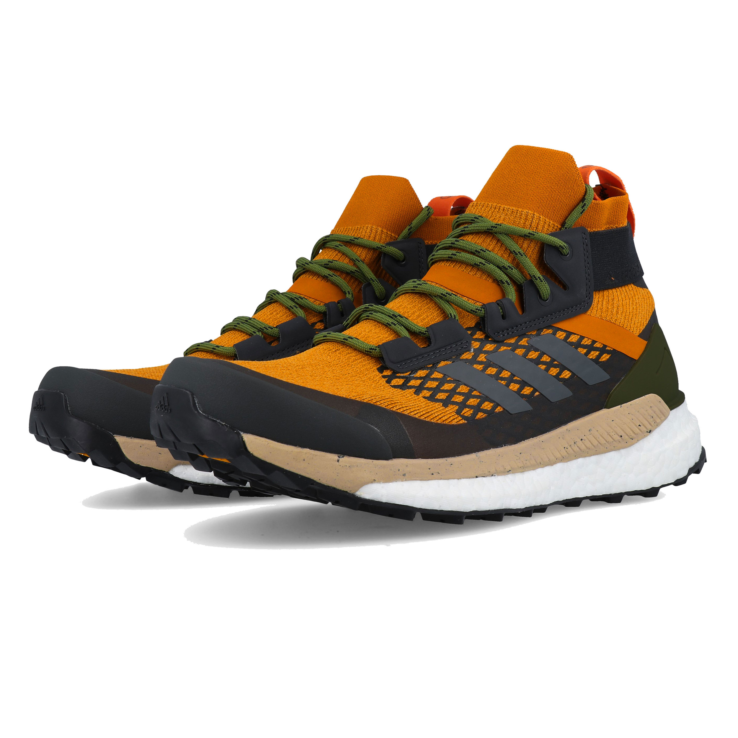 b25a9fc147 Details about adidas Mens Terrex Free Hiker Walking Shoes Black Orange  Sports Outdoors Water