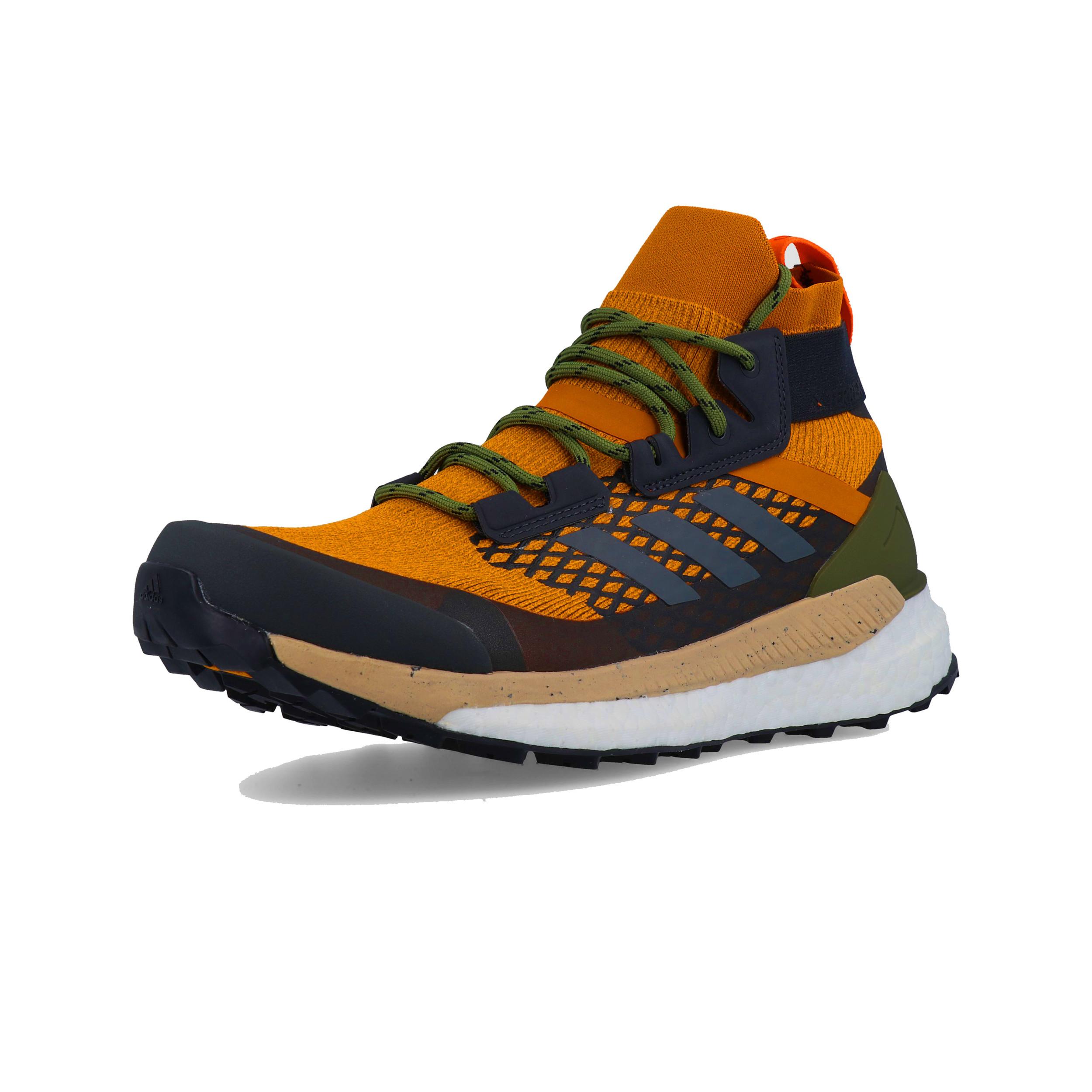 Dettagli su adidas Uomo Terrex Free Hiker Scarpe da Trekking Nero Arancione Sport Outdoor