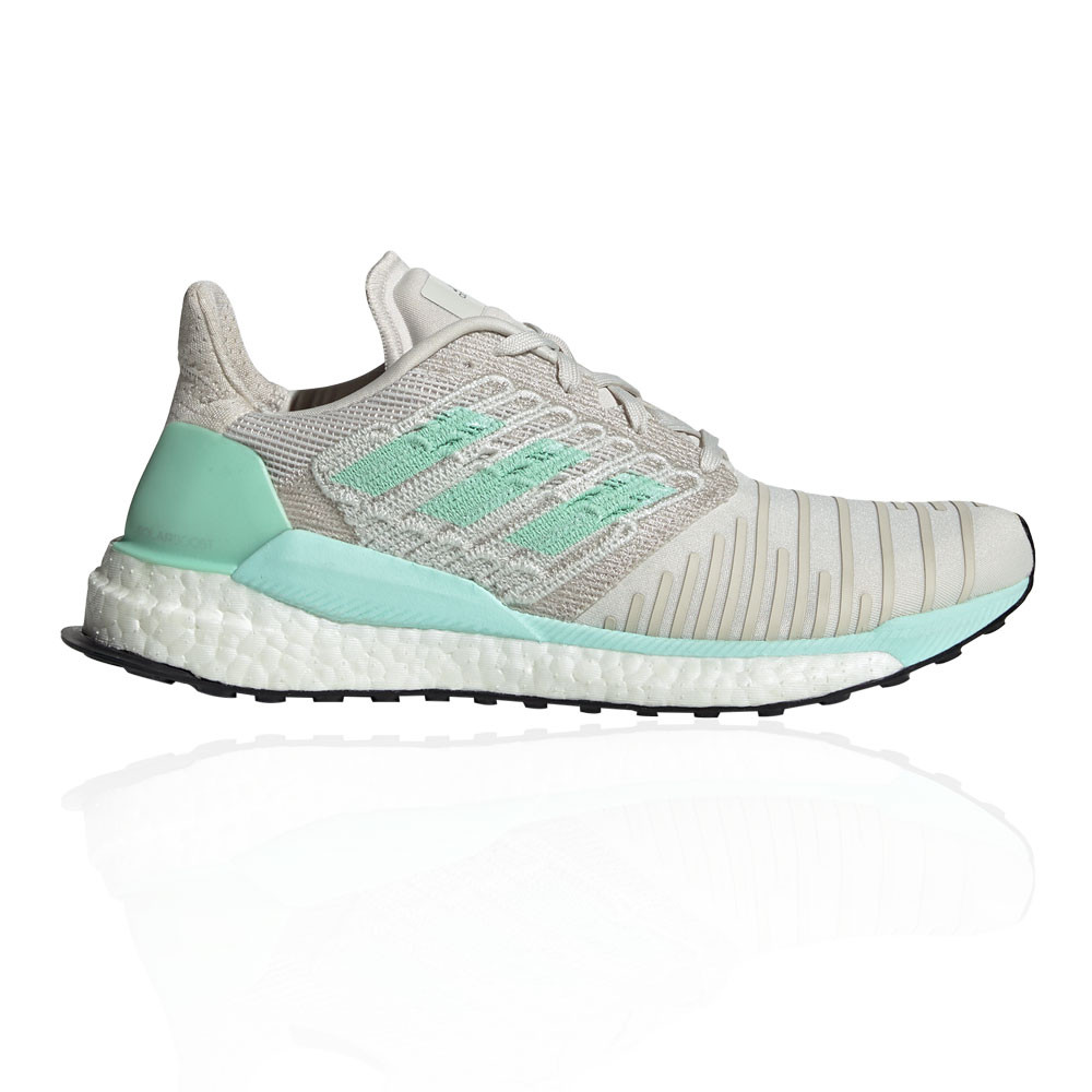 Qualité supérieure d9b92 f5501 Details about adidas Womens Solar Boost Running Shoes Trainers Sneakers  Green Grey White