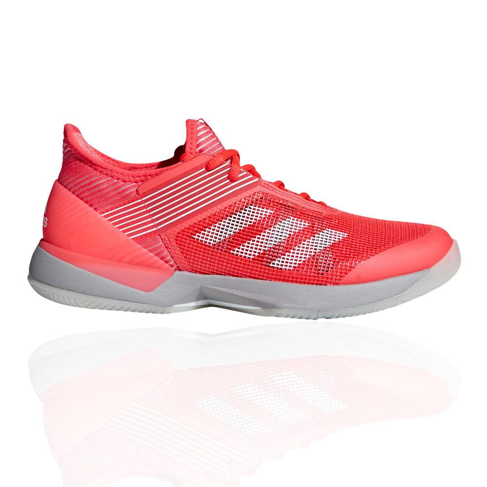 Details zu adidas Damen adizero Ubersonic 3 Clay Tennis Schuhe Sneaker Turnschuhe Grau Rot