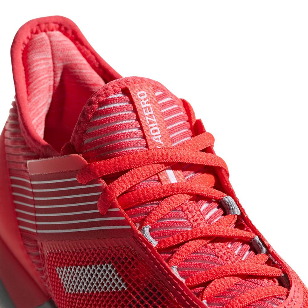 Détails sur adidas Femmes Adizero Ubersonic 3 Clay Tennis Chaussures Sport Gris Rouge