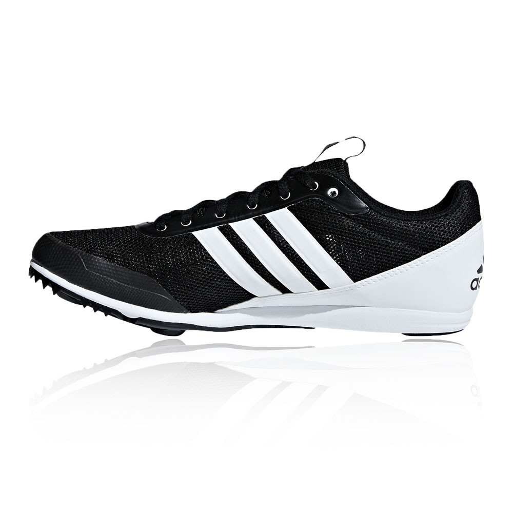 new style e5b59 76a43 adidas Womens Distancestar Running Spikes Traction Black White Sports  Breathable