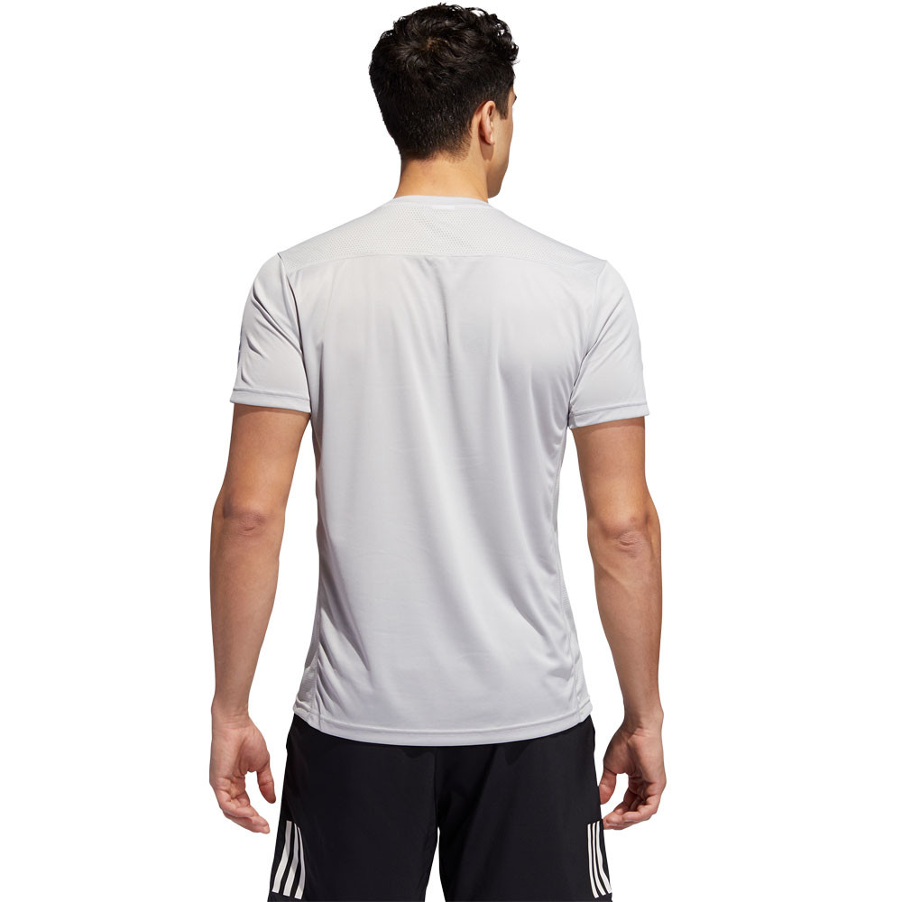 adidas Mens Own The Run T Shirt Tee Top Grey Sports Running Breathable