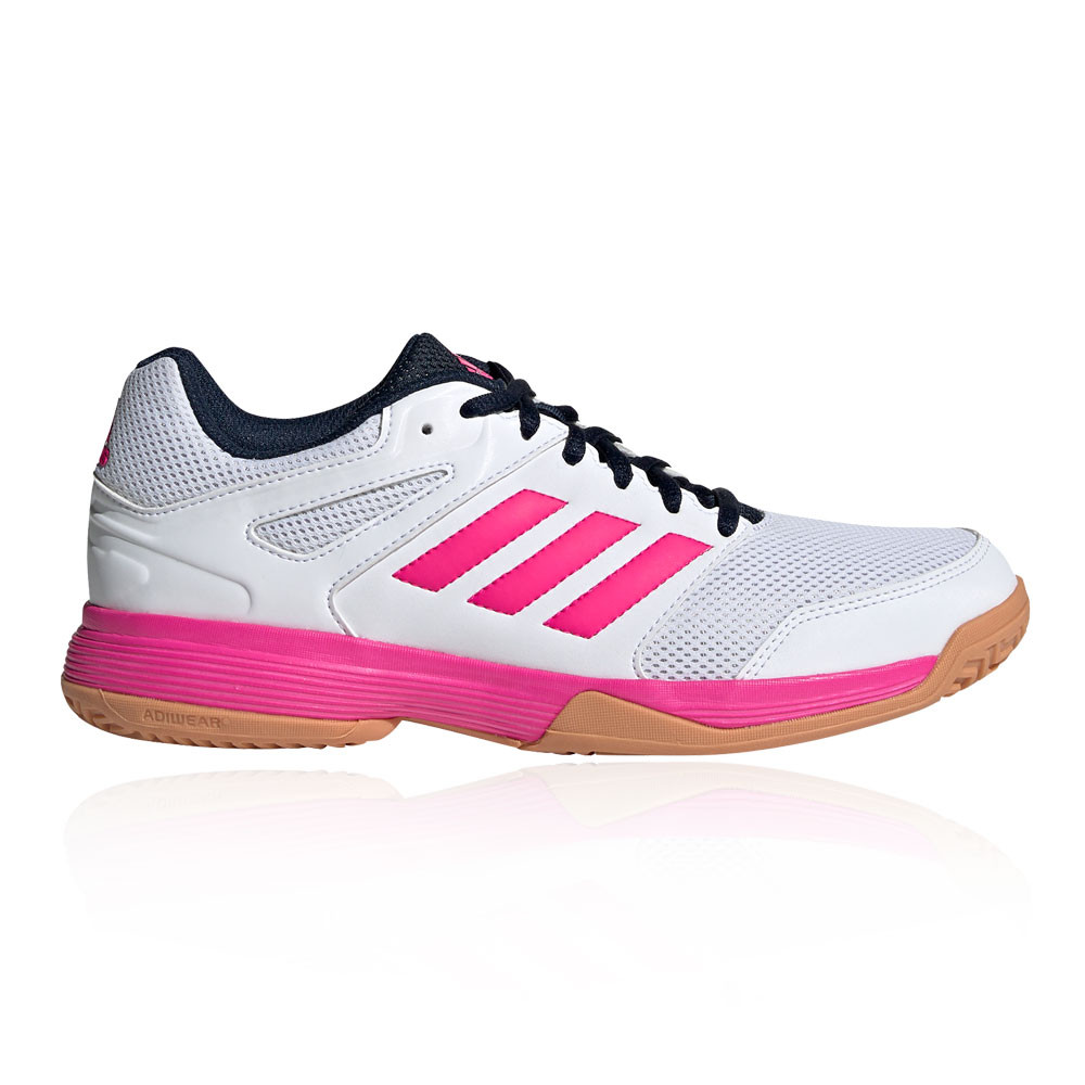 Details about adidas Womens Speedcourt Shoes - White Sports Badminton Handball Breathable